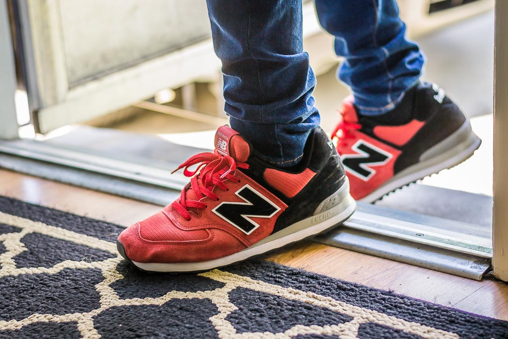 online retailer ab1ef 9f106 New Balance 574 Concepts Harvard Crimson On Feet Sneaker Review
