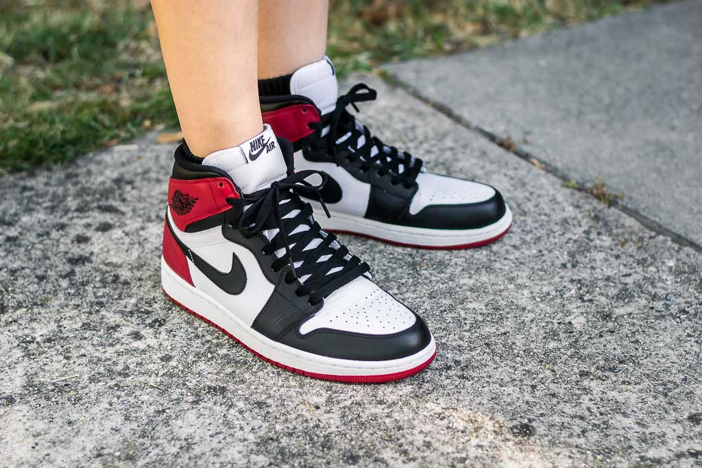 ab2659d2523 Air Jordan 1 Retro OG High Black Toe On Feet Sneaker Review