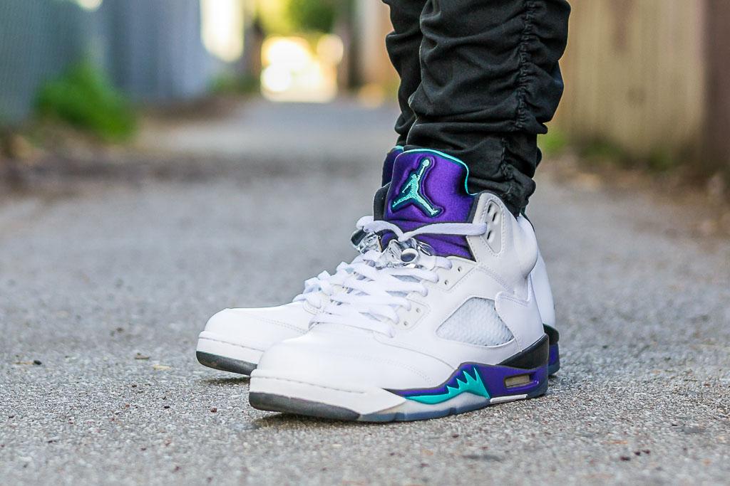 2013 Air Jordan 5 Grape On Feet Sneaker
