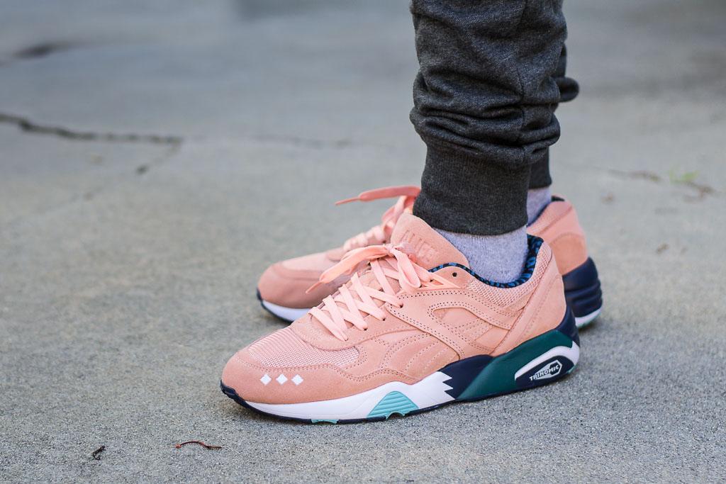 Puma R698 Alife Peach Bud On Feet Sneaker Review