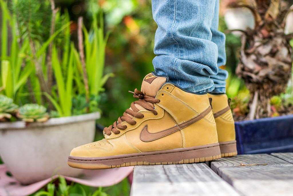 2d53eb7f Nike Dunk High SB Wheat On Feet Sneaker Review