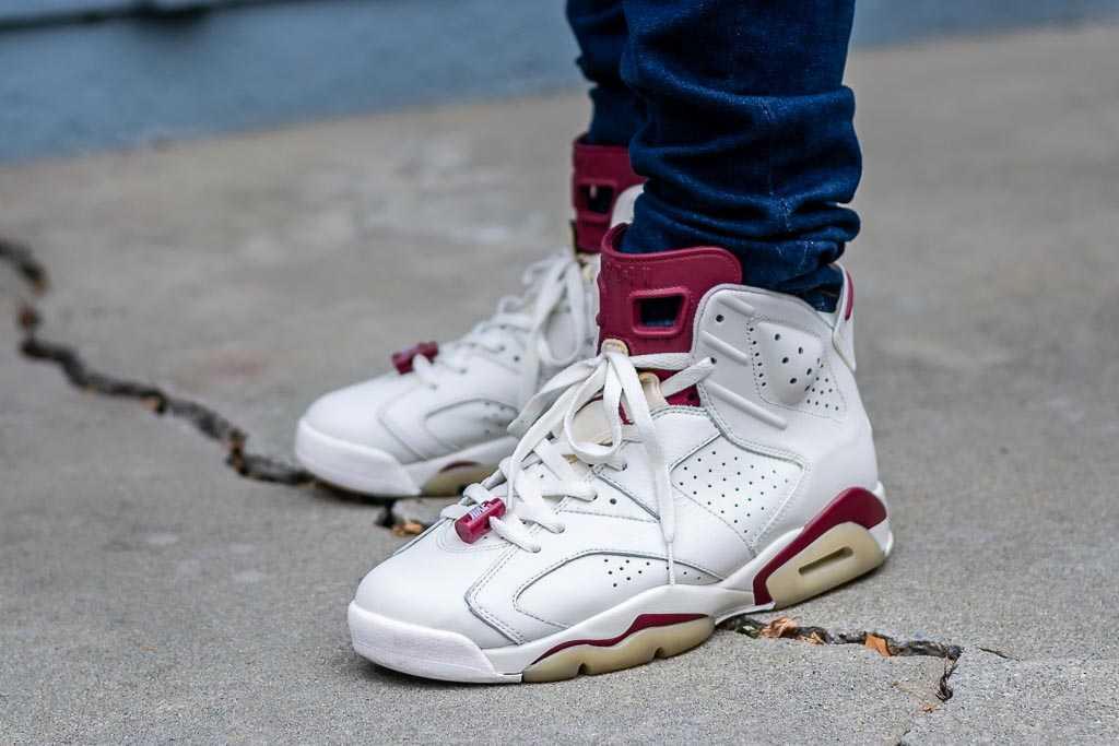 Air Jordan 6 Maroon On Feet Sneaker Review