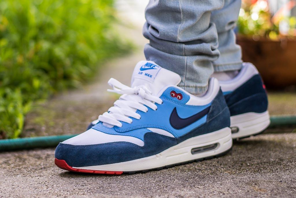 Nike Air Max 1 Essential Midnight Navy & University Blue On Feet ...