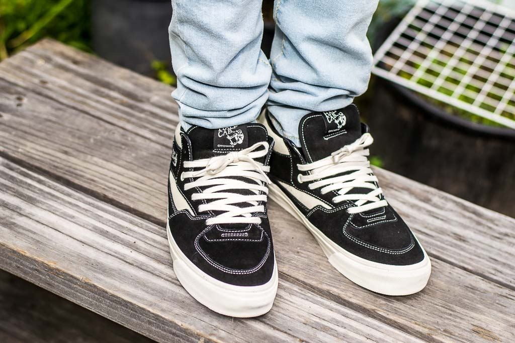 4c13be5c92 Vans Vault OG Half Cab LX Black Marshmallow On Feet Sneaker Review