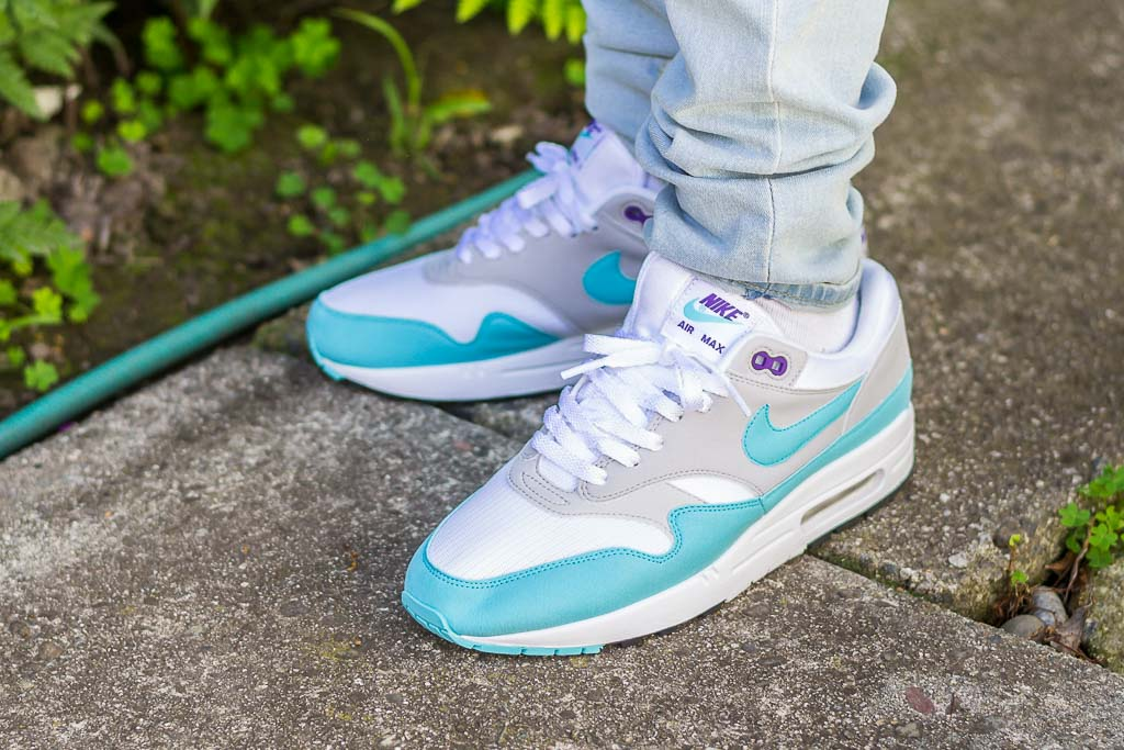 sports shoes 28f6c 43da0 Nike Air Max 1 Aqua Anniversary On Feet Sneaker Review