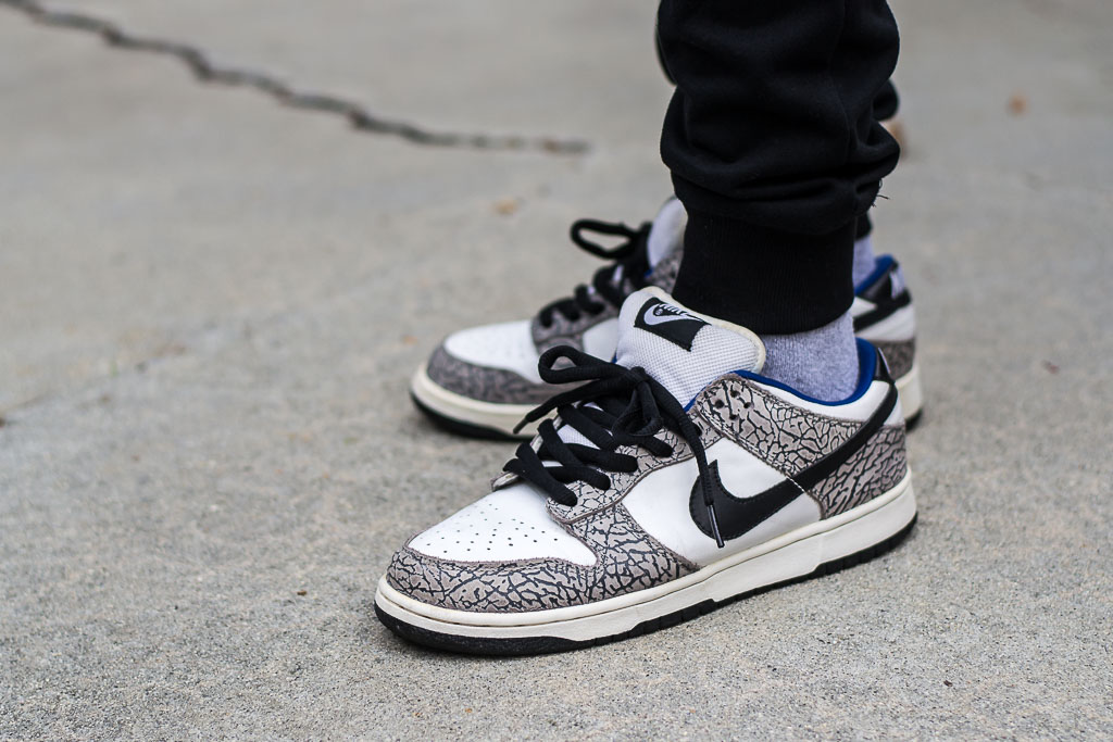 outlet store size 7 best sell Nike SB Dunk Low White Supreme On Feet Sneaker Review