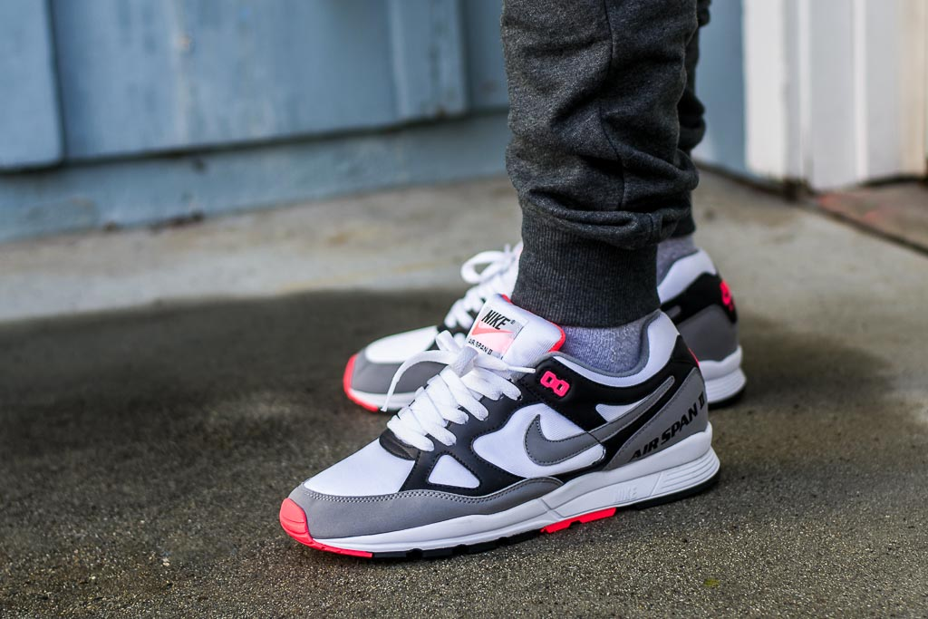 Nike Air Span II Solar Red On Feet Sneaker Review