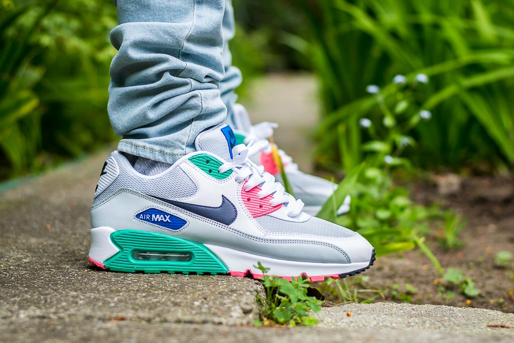 save off 8243f 8cbe9 Nike Air Max 90 Essential Watermelon On Feet on foot photo