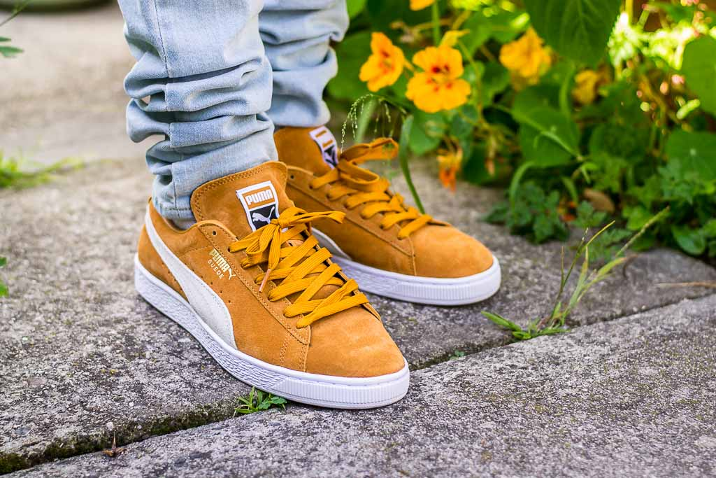Puma Suede Classic Inca Gold On Foot Sneaker Review
