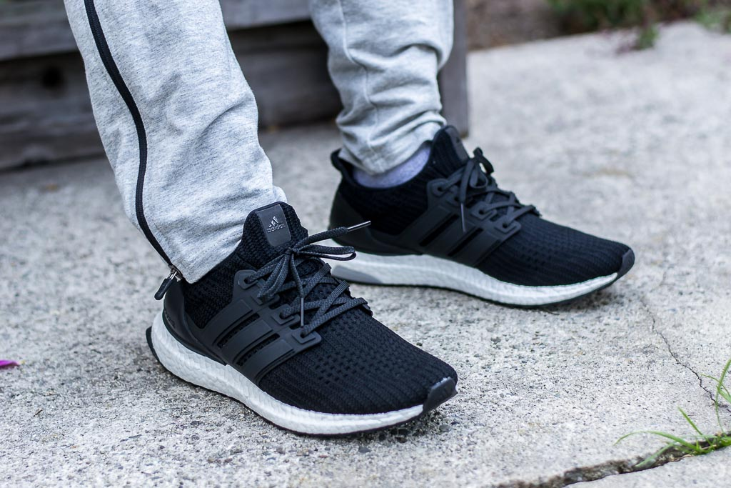 f24ee31633b Adidas Ultraboost 4.0 Core Black On Foot Sneaker Review