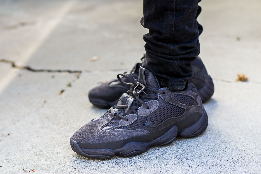 ad8906fce01 Adidas Yeezy 500 Utility Black On Feet Sneaker Review