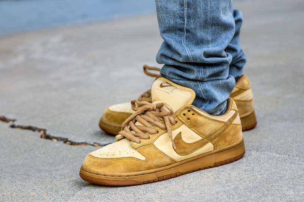 Nike Dunk Low SB Wheat Forbes - On Foot