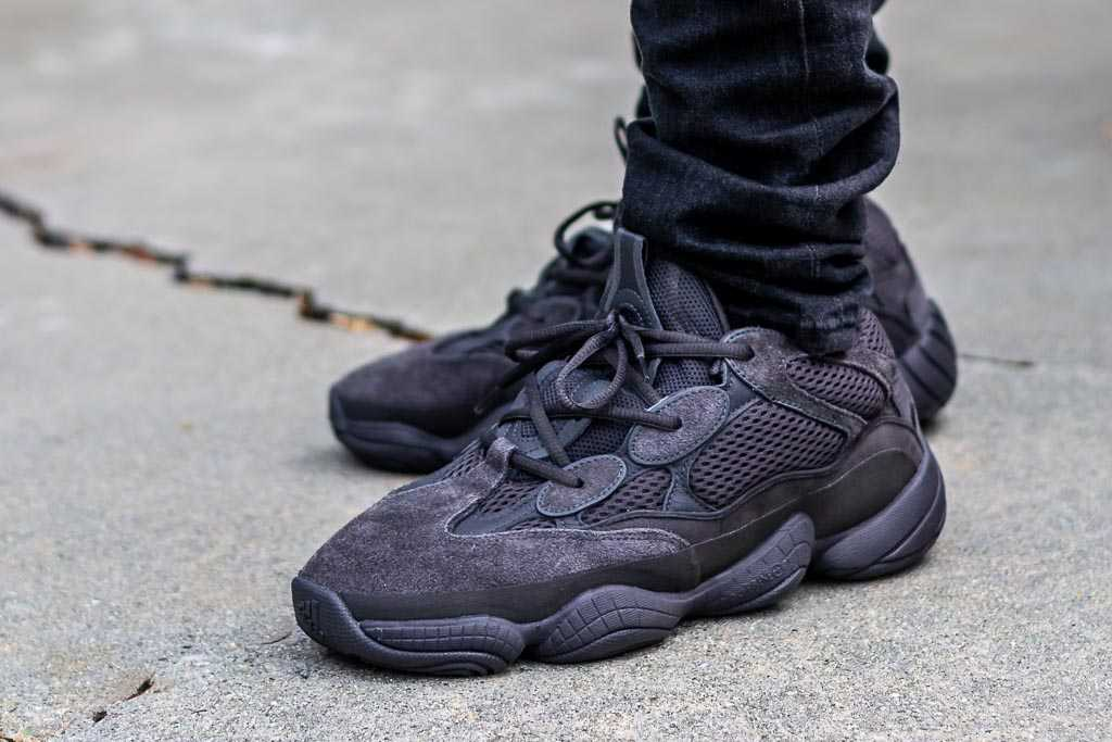 premium selection d80fb db7ef Adidas Yeezy 500 Utility Black On Feet Sneaker Review
