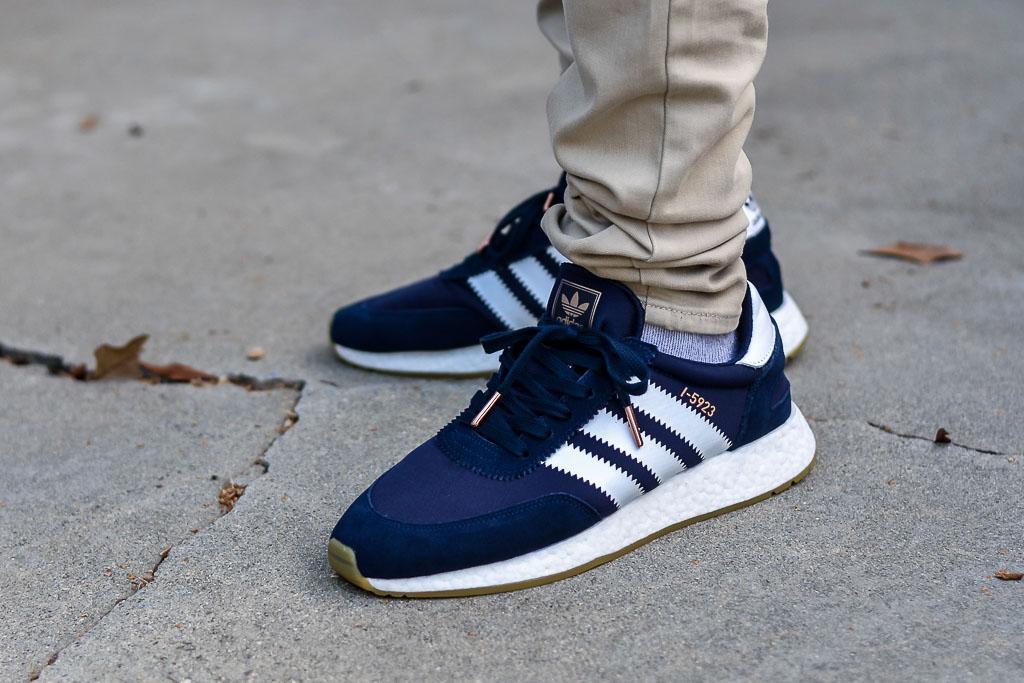Adidas I-5923 Iniki Navy   White On Feet Sneaker Review 86fe11c51