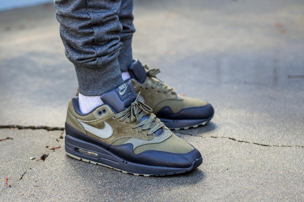 on feet shots of premium selection cheap price Nike Air Max 1 Premium Dark Stucco On Feet Sneaker Review