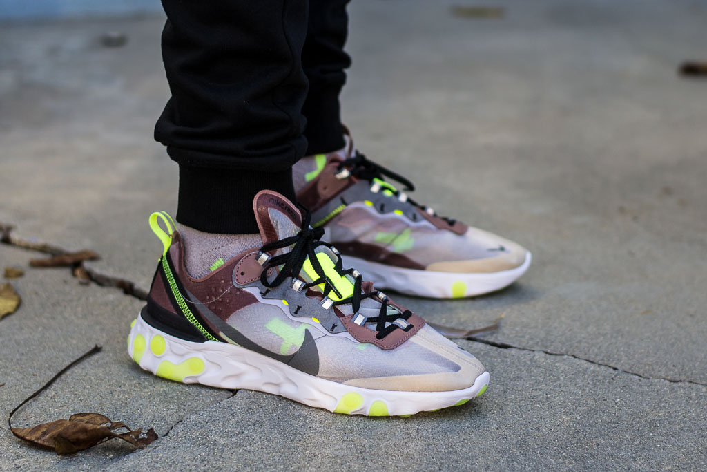 301dee38777f Nike React Element 87 Desert Sand On Feet Sneaker Review