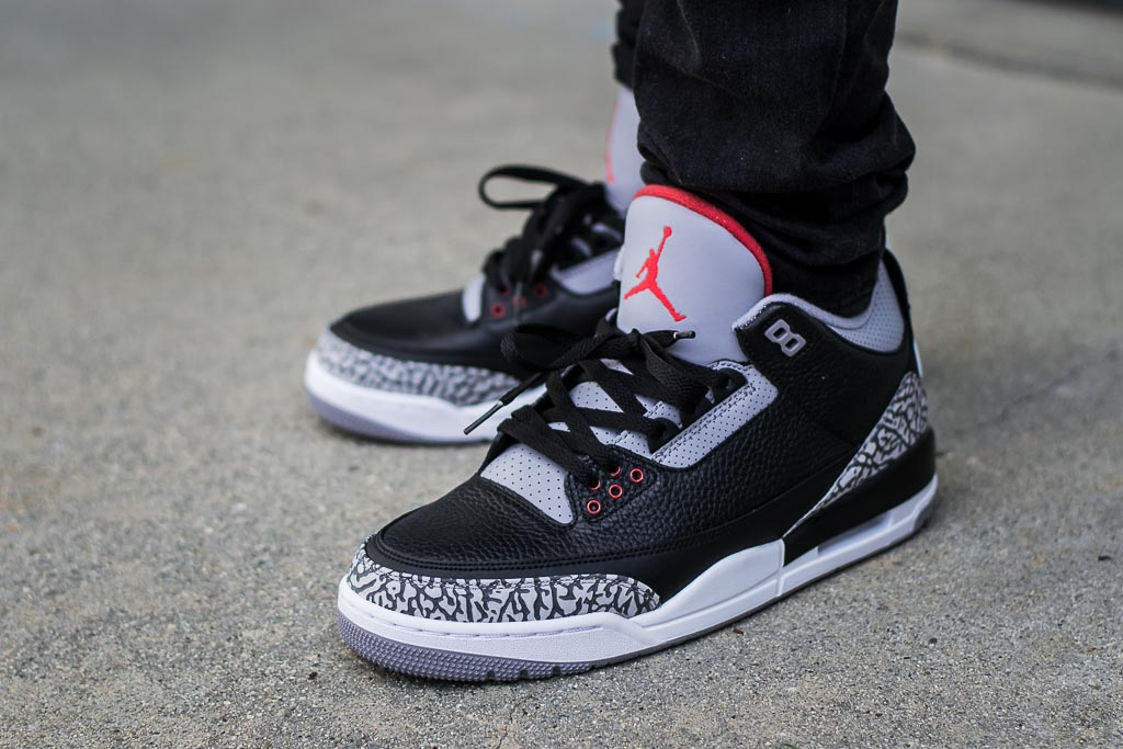 info for c191f 7f529 2018 Air Jordan 3 Black Cement On Feet Sneaker Review