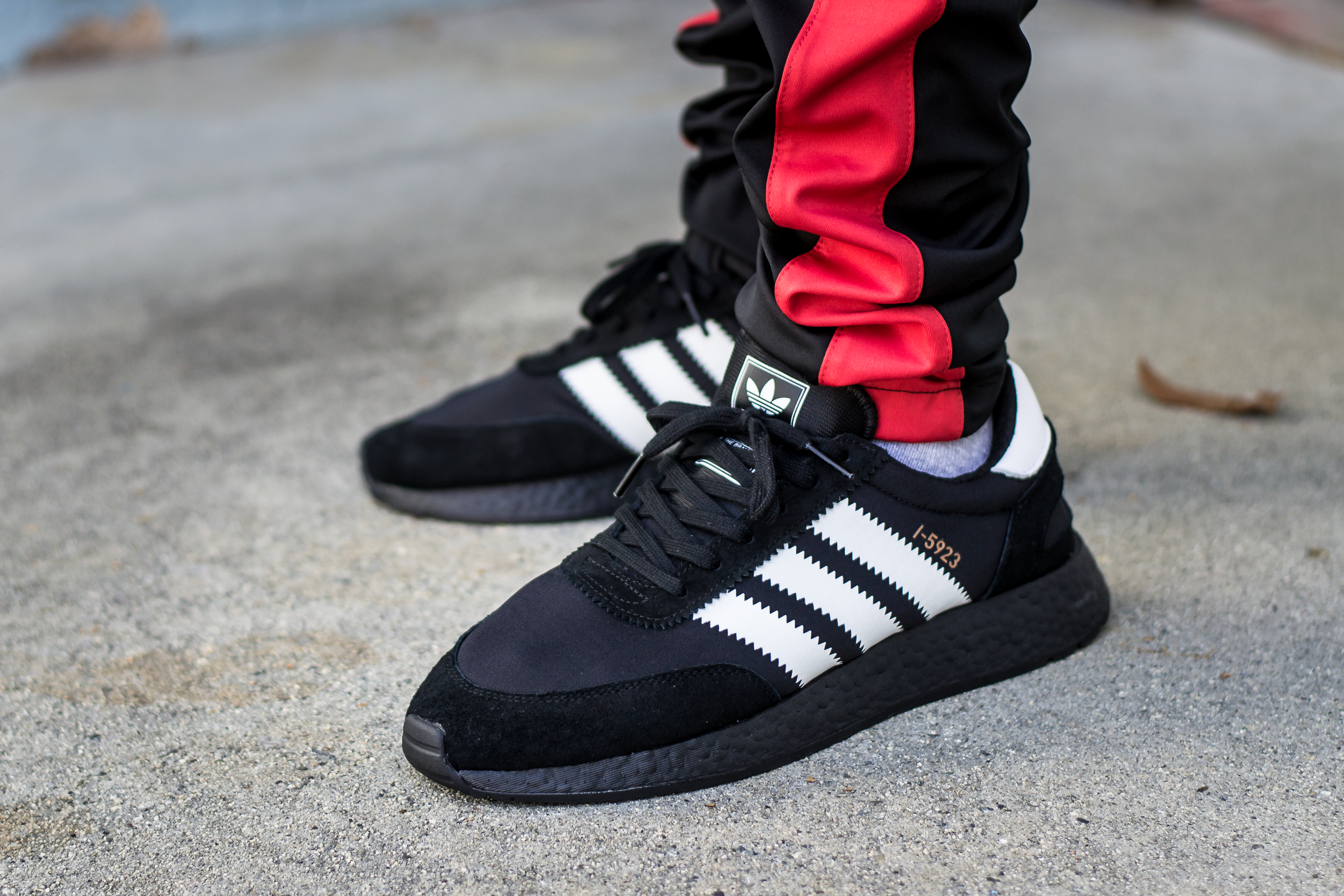 Adidas I-5923 Iniki Black Boost On Feet Sneaker Review d4dd7e90e