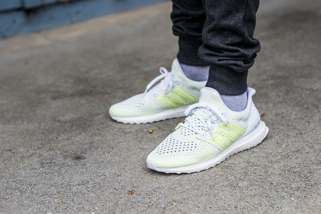 0cb28851c79e ... good adidas ultraboost clima solar yellow on feet on foot photo 32d7f  2e5b8
