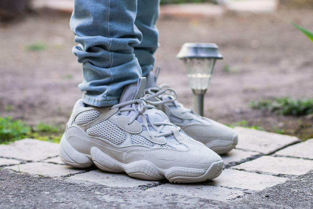 save off ca369 a5594 Adidas Yeezy 500 Blush On Feet Sneaker Review