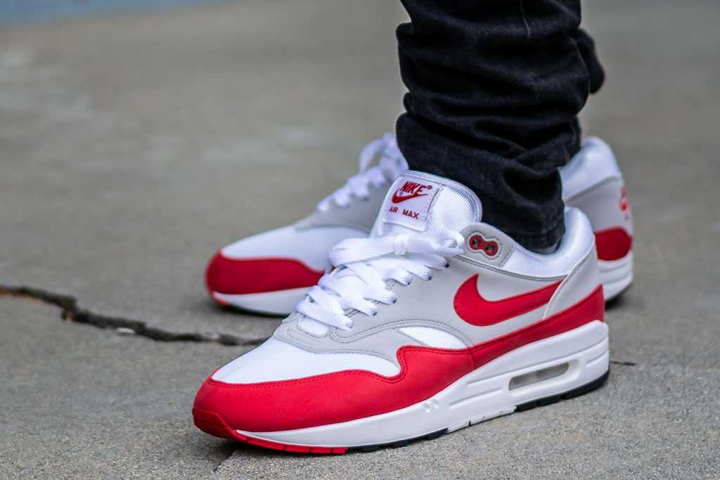 Nike Air Max 1 Anniversary University Red On Feet Sneaker Review