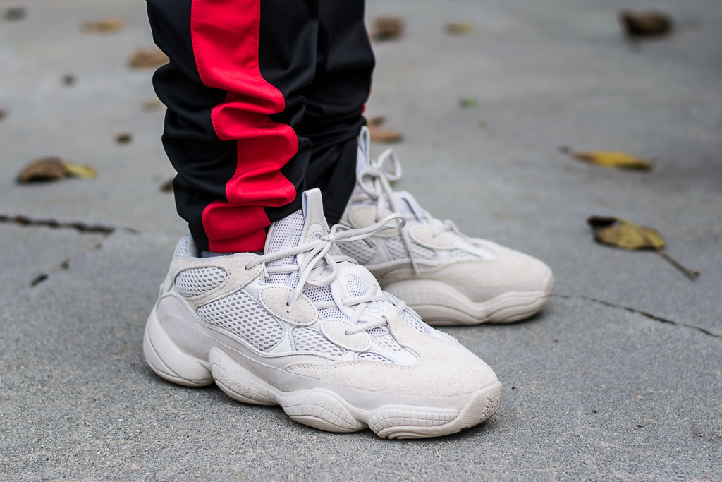 save off 6b829 cb365 Adidas Yeezy 500 Blush On Feet Sneaker Review