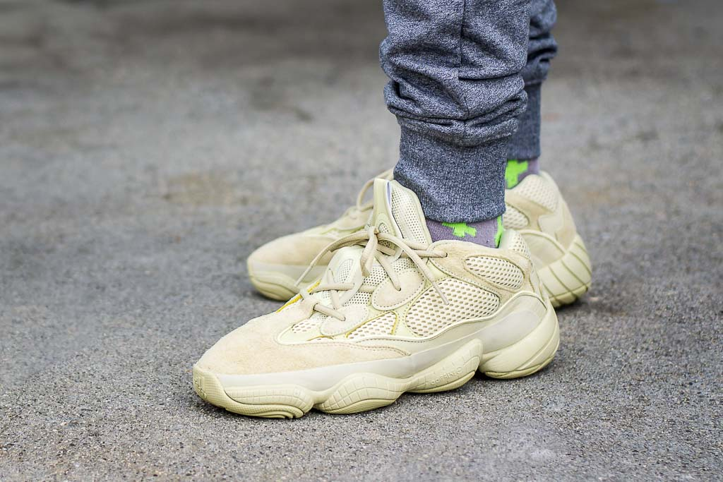 671ba122c Adidas Yeezy 500 Supermoon Yellow On Feet Sneaker Review