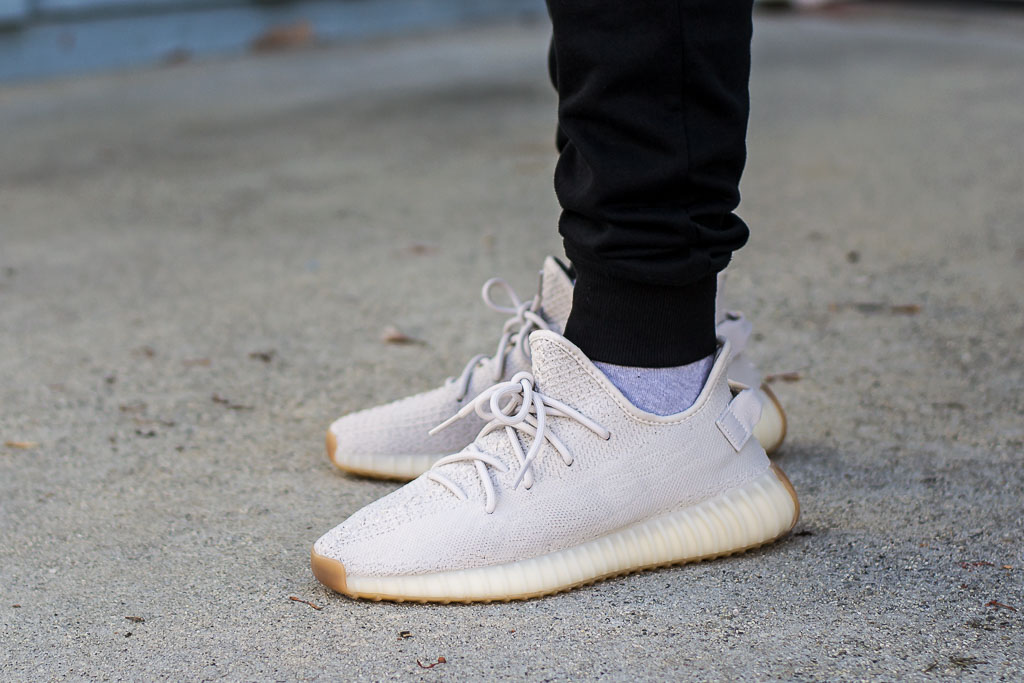 a14cfe44d26e1 Adidas Yeezy Boost 350 V2 Sesame On Feet Sneaker Review