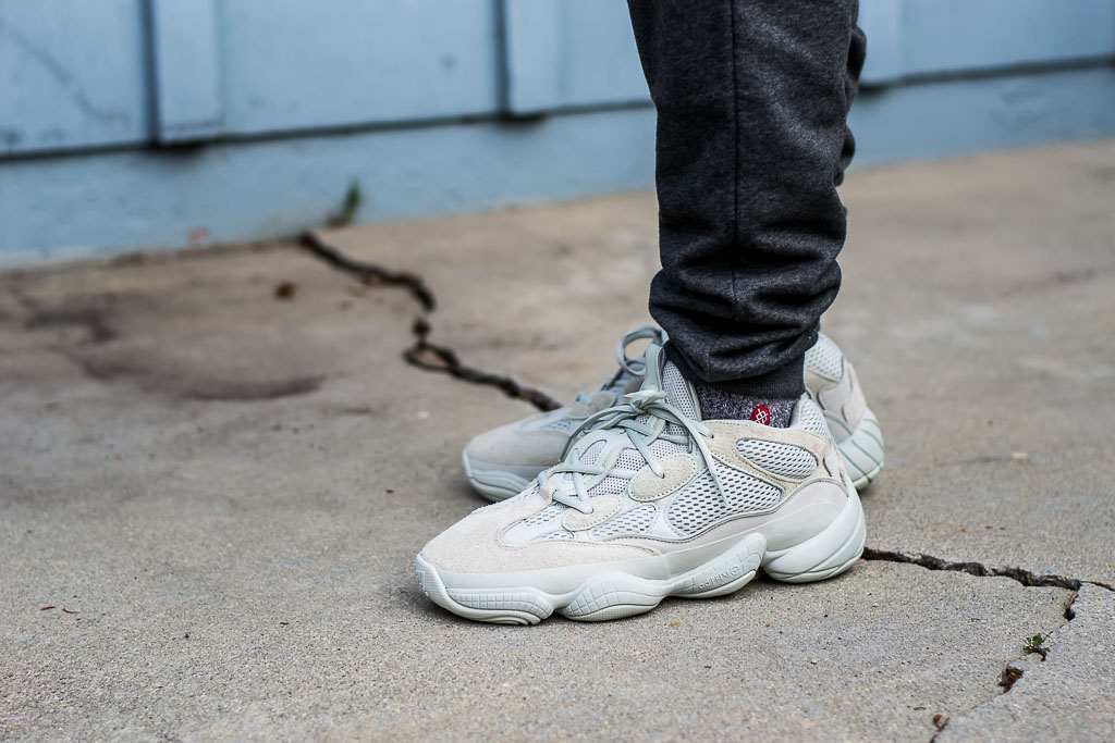 separation shoes 4a1ef ff289 Adidas Yeezy 500 Salt On Feet Sneaker Review