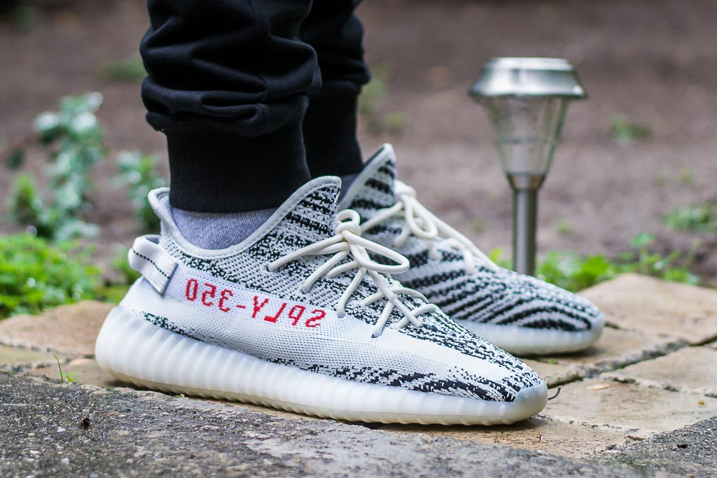Adidas Yeezy Boost 350 V2 Zebra On Feet Sneaker Review