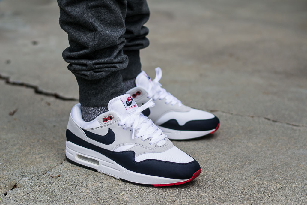 reputable site c4fa0 af2ee Nike Air Max 1 Anniversary Obsidian On Feet Sneaker Review