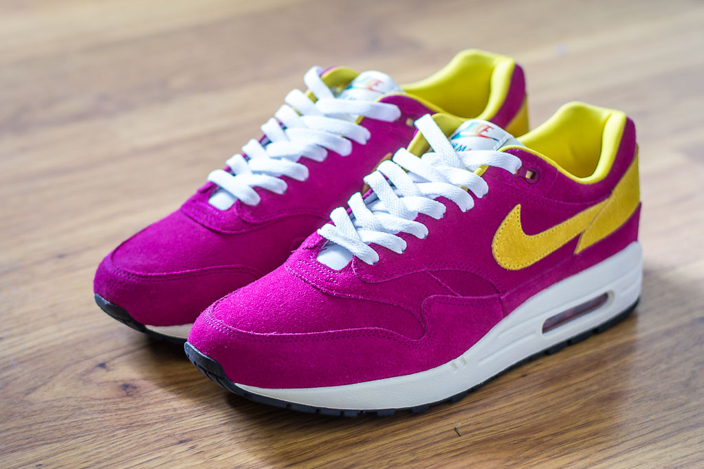 online retailer 44867 5efff Read More about Nike Air Max 1 Dynamic Berry Sneaker Pickup   Unboxing and  watch Video!