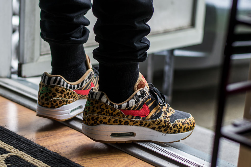 more photos d6f9f 4055a Atmos x Nike Air Max 1 Animal Pack 2.0 On Feet Sneaker Review
