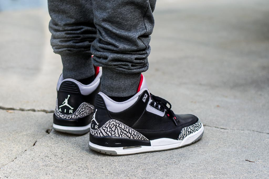 pretty nice b50cc a1b80 Air Jordan 3 Black Cement Countdown Pack Outfit of the day