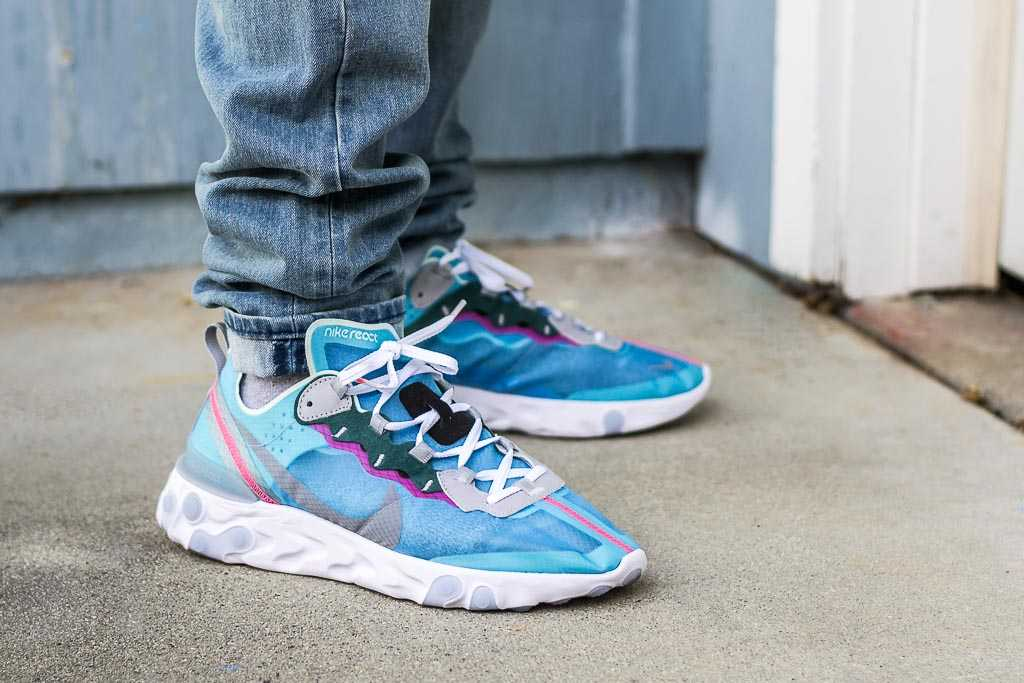extraer puerta binario  Nike React Element 87 Royal Tint On Feet Sneaker Review