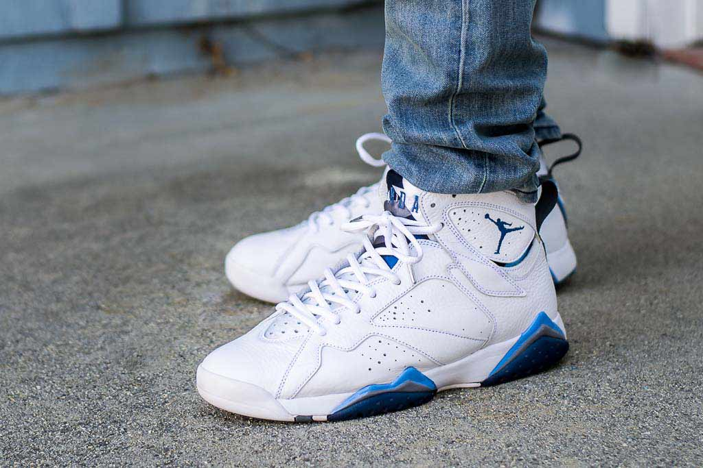 timeless design d3764 d69c1 2015 Air Jordan 7 French Blue On Feet Sneaker Review