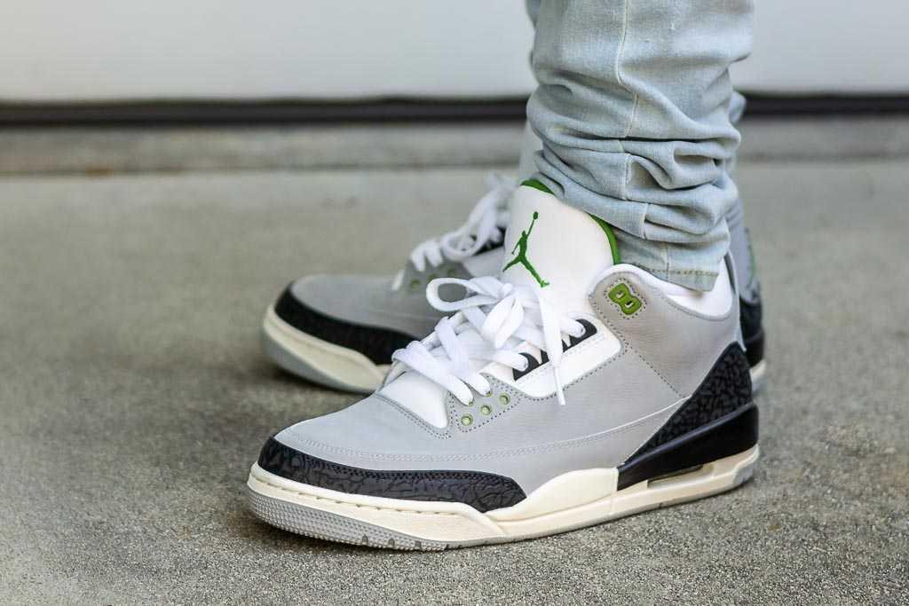 Air Jordan 3 Chlorophyll On Feet