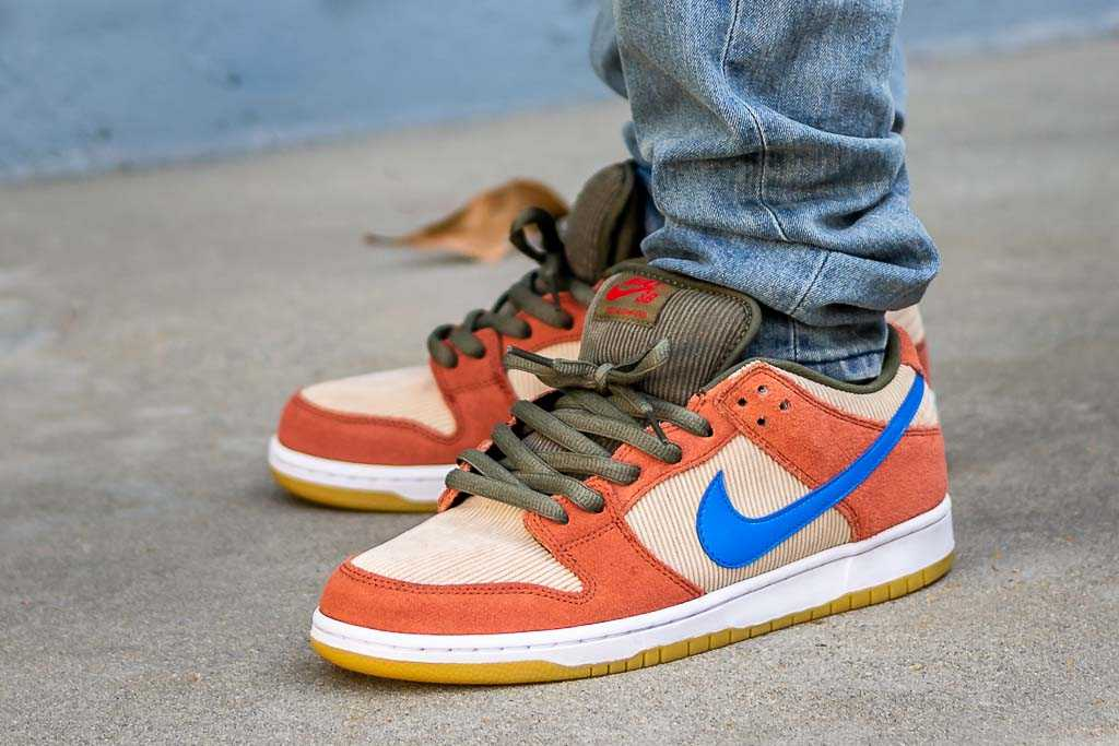 factory authentic cute cheap hot products Nike SB Dunk Low Corduroy / Dusty Peach On Feet Sneaker Review
