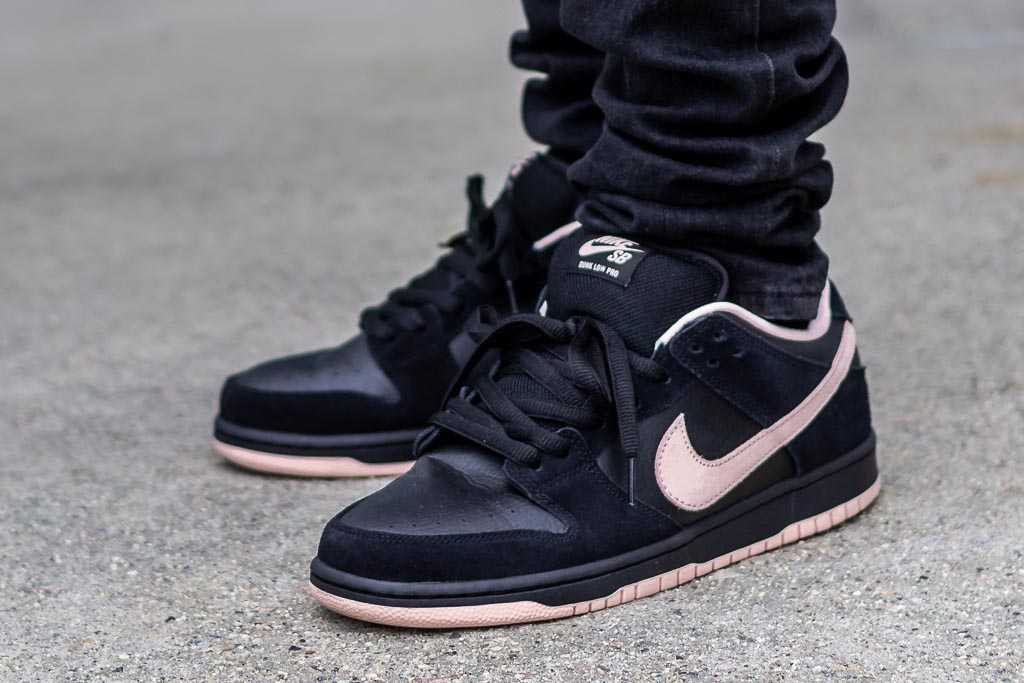 Nike SB Dunk Low Black/Washed Coral On
