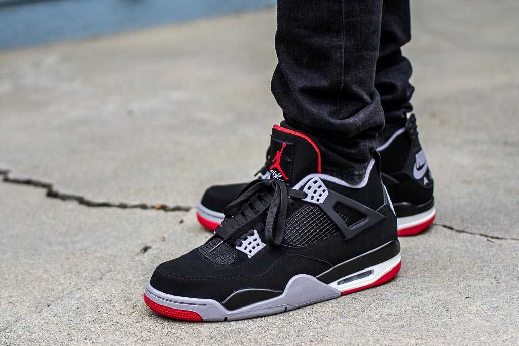 wholesale dealer f917a c1d1b 2019 Air Jordan 4 Bred On Feet Sneaker Review