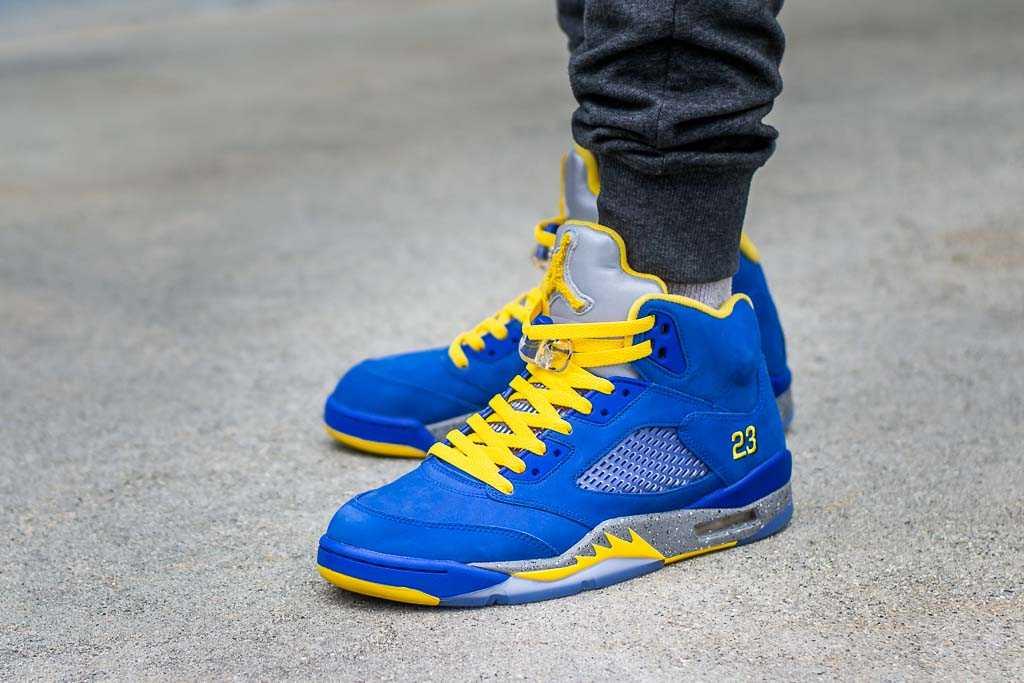 the latest 57e75 58f37 Air Jordan 5 Laney JSP On Feet Sneaker Review