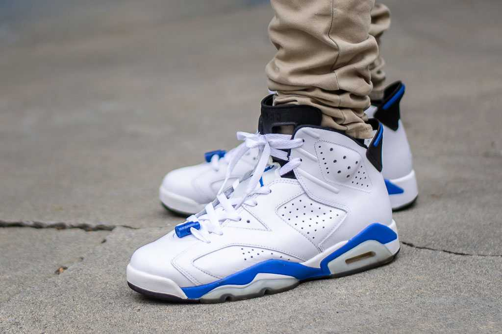 brand new 2fcc5 2cf6e Air Jordan 6 Sport Blue On Feet Sneaker Review