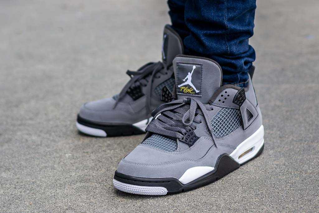 Air Jordan 4 Cool Grey On Feet Sneaker