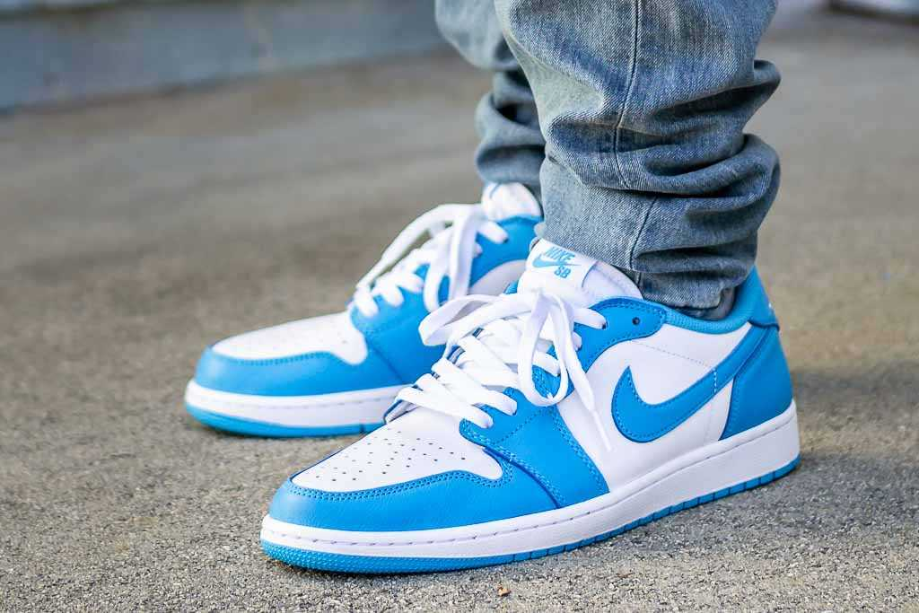 Nike Sb X Air Jordan 1 Low Koston Unc On Feet Sneaker Review