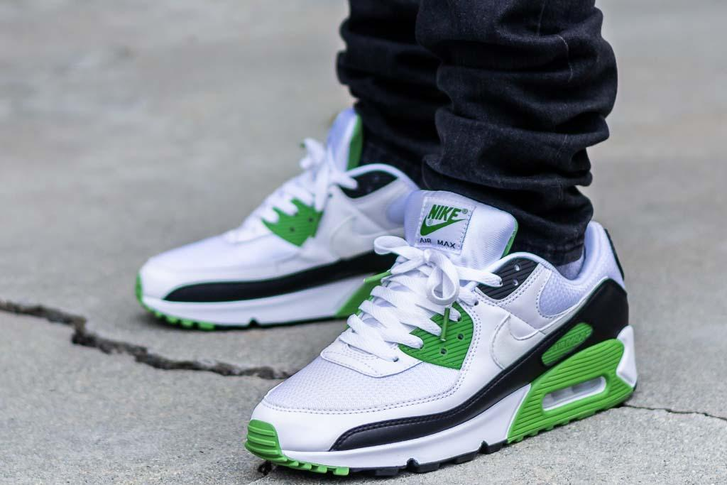 Nike Air Max 90 Chlorophyll On Feet Sneaker Review