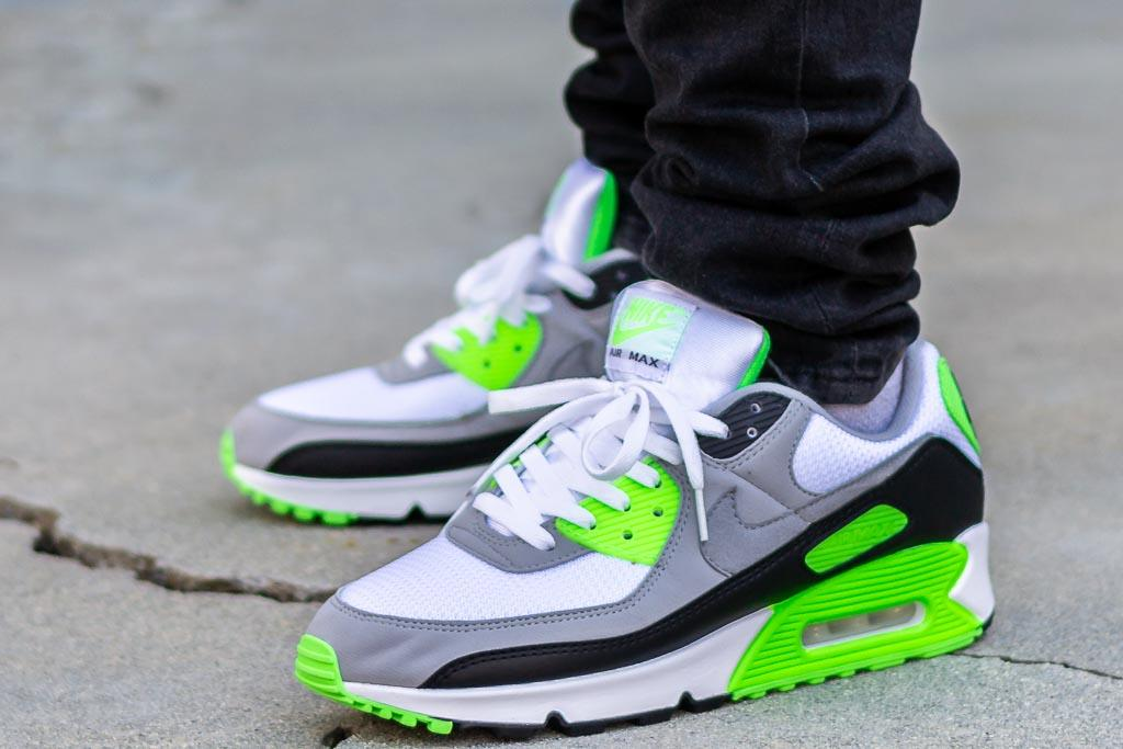 Nike Air Max 90 Lime On Feet Sneaker Review