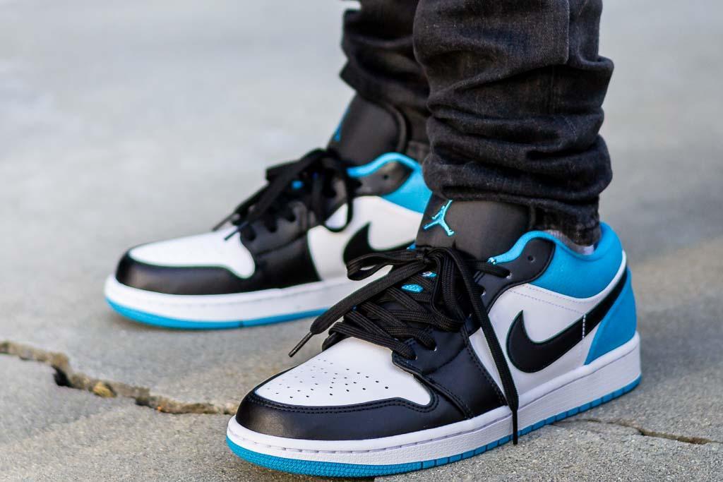 Air Jordan 1 Low Laser Blue On Feet Sneaker Review