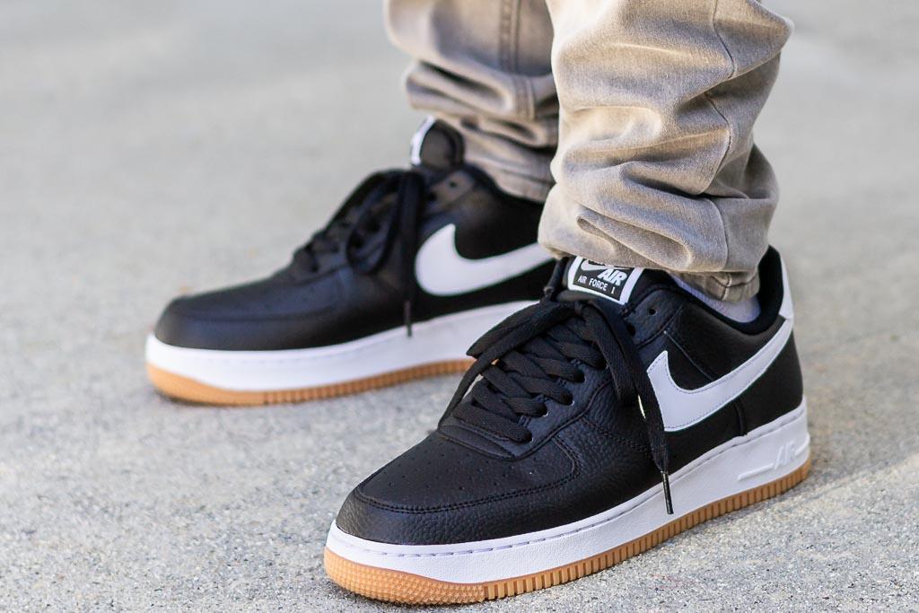 Nike Air Force 1 Black Gum On Feet Review